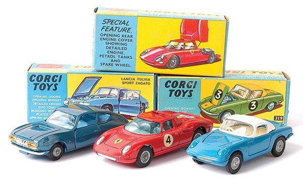 4017: Corgi No.319 Lotus Elan Coupe plus Others