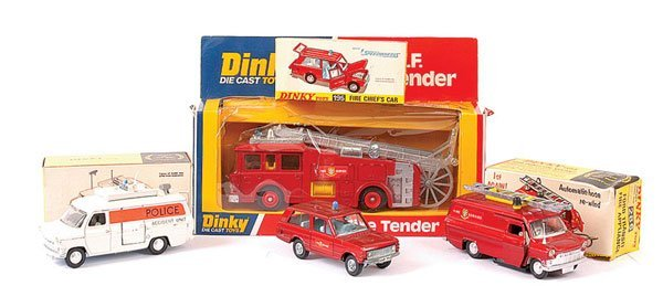 4161: Dinky Fire and Police Vehicles plus Others
