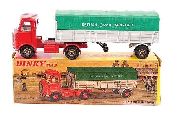 """4164: Dinky No.914 AEC Articulated Lorry """"BRS"""""""