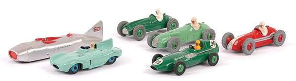 4545: Dinky - A Group of Racing Cars