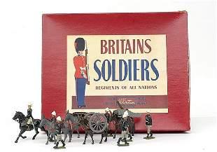 Britains-Set28-R.A.Mountain Gun [Post war]