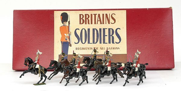 1015: Britains-Set50-Life Gds & 4th Hussars [Post war]