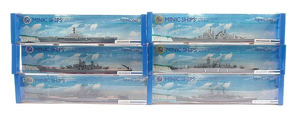 1016: Triang Minic Ships - 6 x Warships
