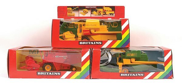 2017: Britains - A Group of 3 x Combine Harvesters