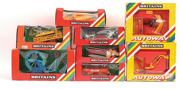 2019: Britains - A Group of Farm Implements & Trailers