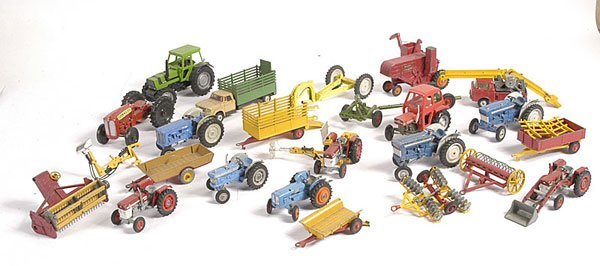 21: Corgi and Matchbox Unboxed Agricultural Items