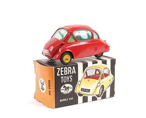 3356: Benbros Zebra Toys No.34 Heinkel Bubble Car
