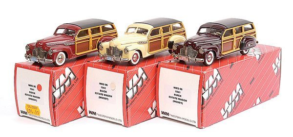 14: Western No.WMS96 Buick 1941 Estate Wagon x 3