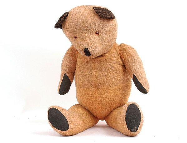 1009: Golden Artificial Silk Teddy Bear