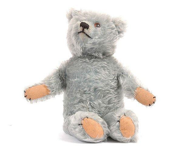 1013: Blue Mohair Teddy Bear