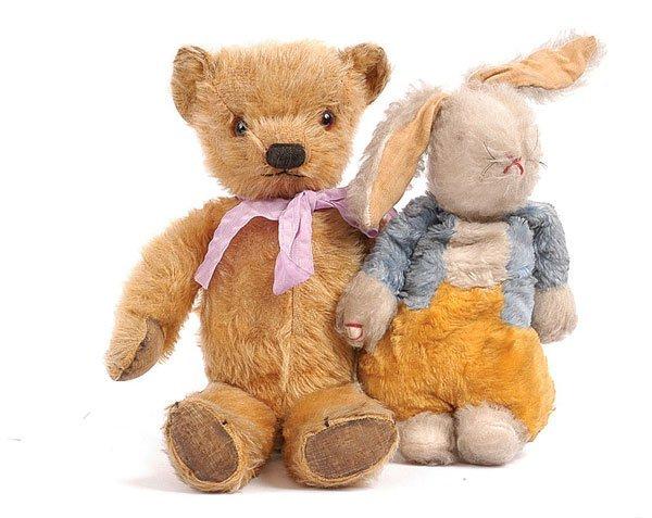 1014: Chad Valley Golden Mohair Teddy Bear