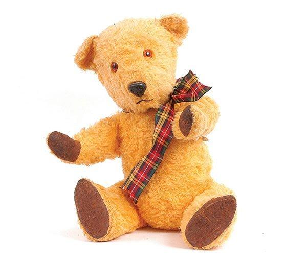 1022: Chiltern Golden Wool Plush Teddy Bear