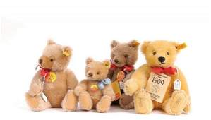 A Group of Steiff Teddy Bears