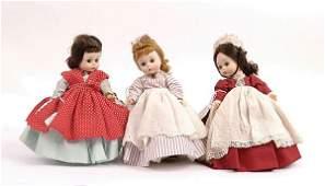 """1511: Madame Alexander-kins """"Little Woman"""" Dolls"""