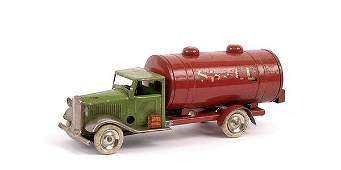 1855: Triang Minic 15M Pre-war Shell-BP Petrol Tanker