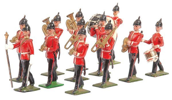 2004: Britains-Set 27 - Line Infantry Band - Post War