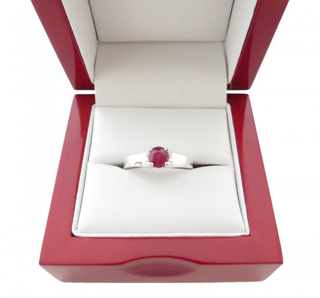 Beautiful .88 Carat Natural 5mm Ceylon Ruby Solitaire