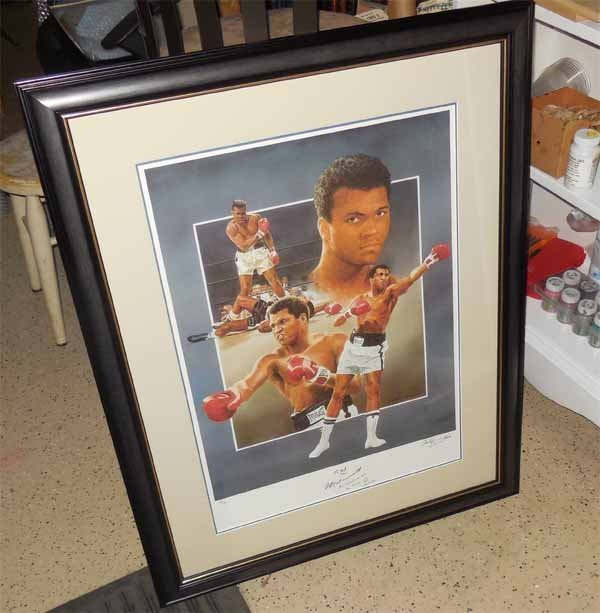 Muhammad Ali Autographed Lithograph