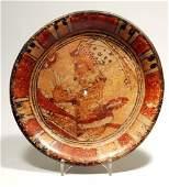 Pre Columbian Maya Footed Plate