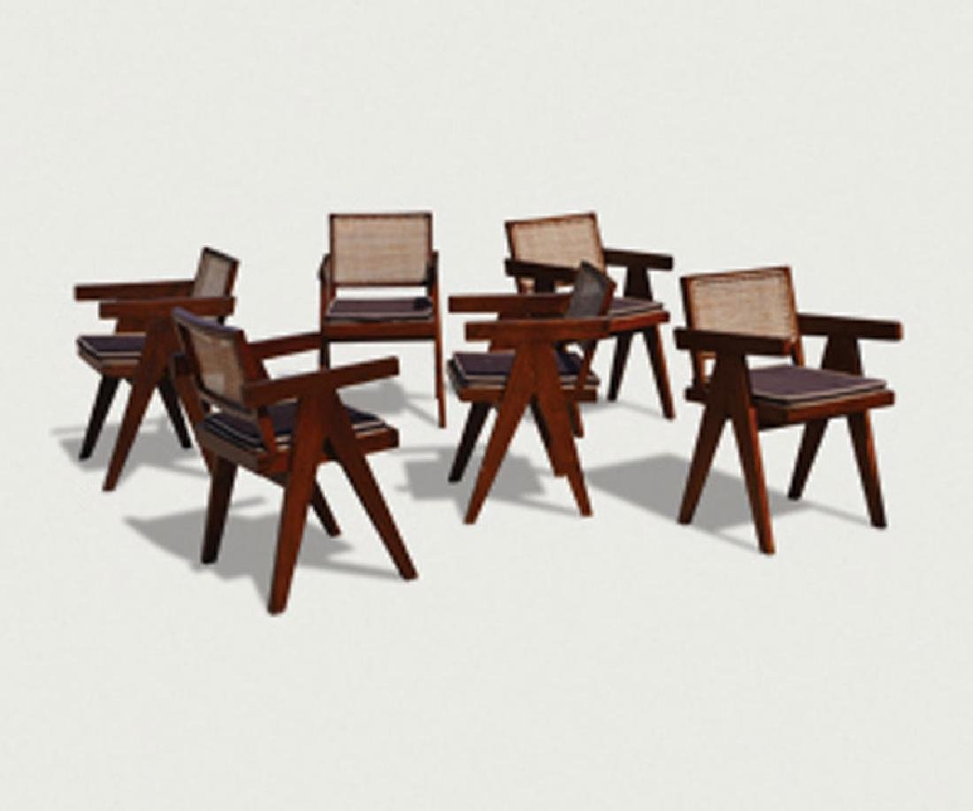 Six office chairs
