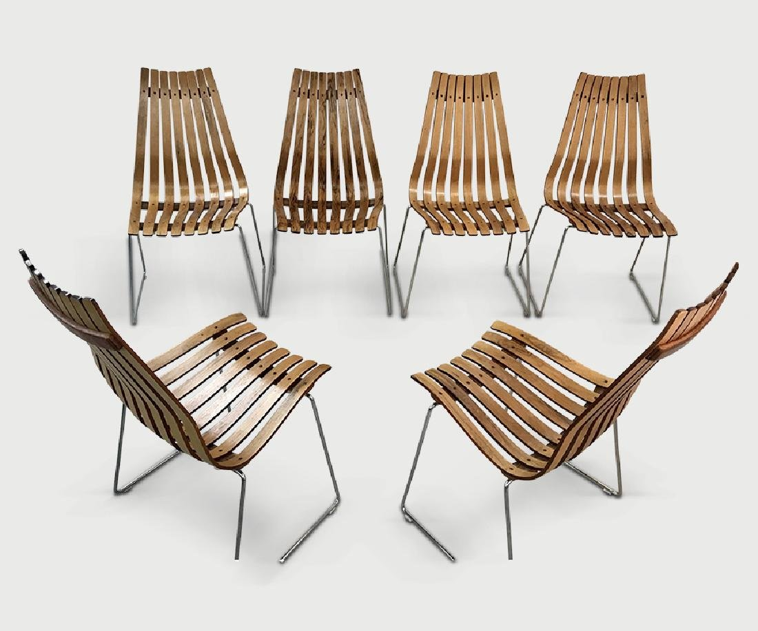 6 Hans Brattud chairs