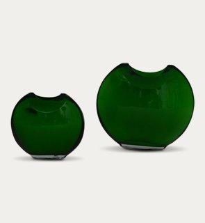 Pair glass vases