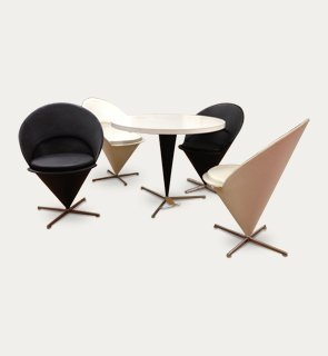 Cone table and chairs