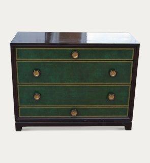 Ebonised chest of drawers