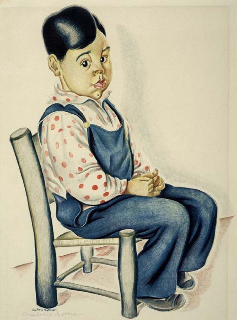 Barbara Latham (Am. 1896-1976), Boy in Chair ,