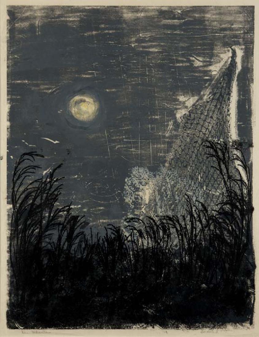 Barbara Maples (Am. 1912 -1999), Sea Ghost, serigraph