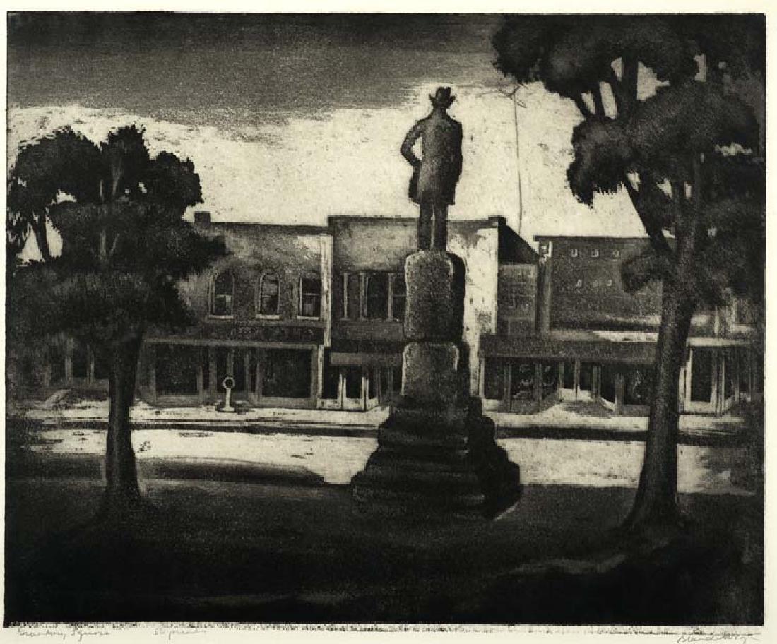 Blanche  McVeigh (Am. 1895-1970), Granbury Square,