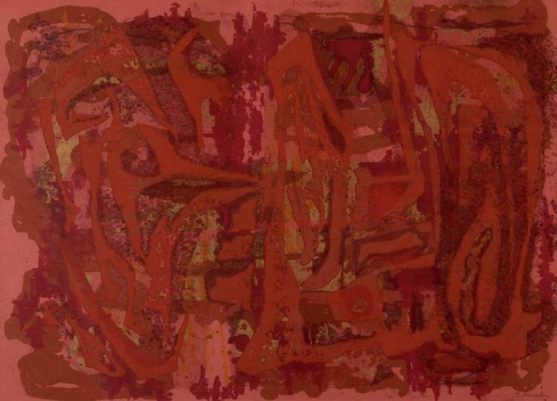 Barbara Maples (Am. 1912-1999), Red Abstraction,