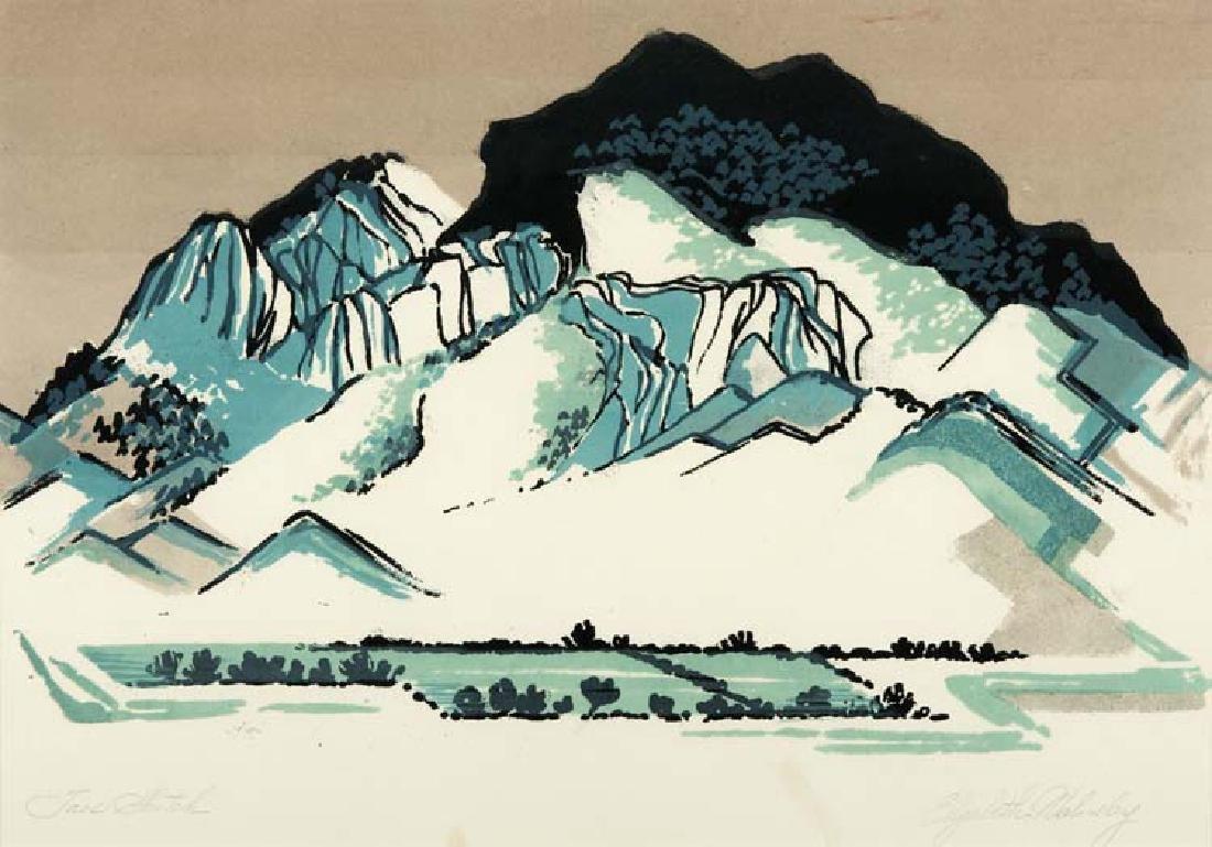 Elizabeth Walmsley (Am. 1900-1993), Taos Sketch,