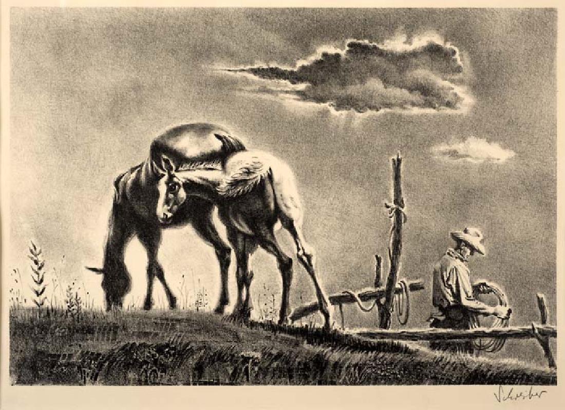 George Schreiber (Am. 1904-1977), Mare and Colt,