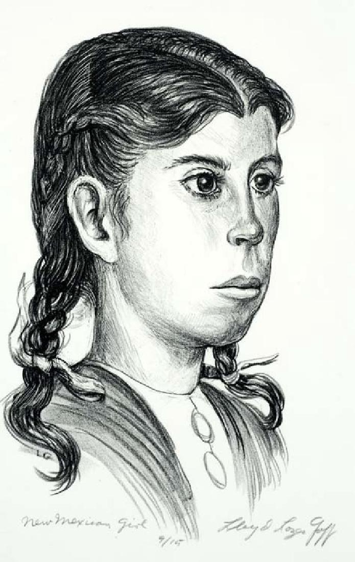 Lloyd Goff (Am. 1908-1982), New Mexican Girl,