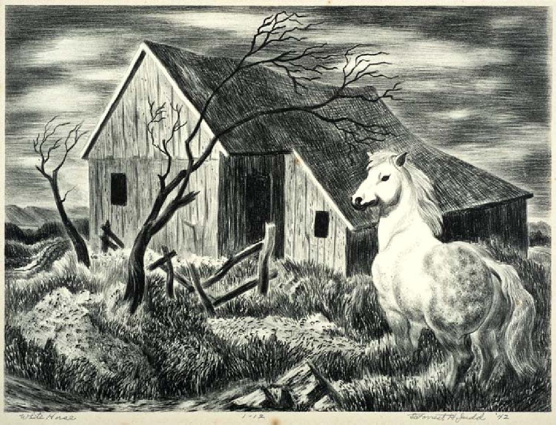 DeForrest  Judd (Am. 1919-1993), White Horse, 1942, Ed.