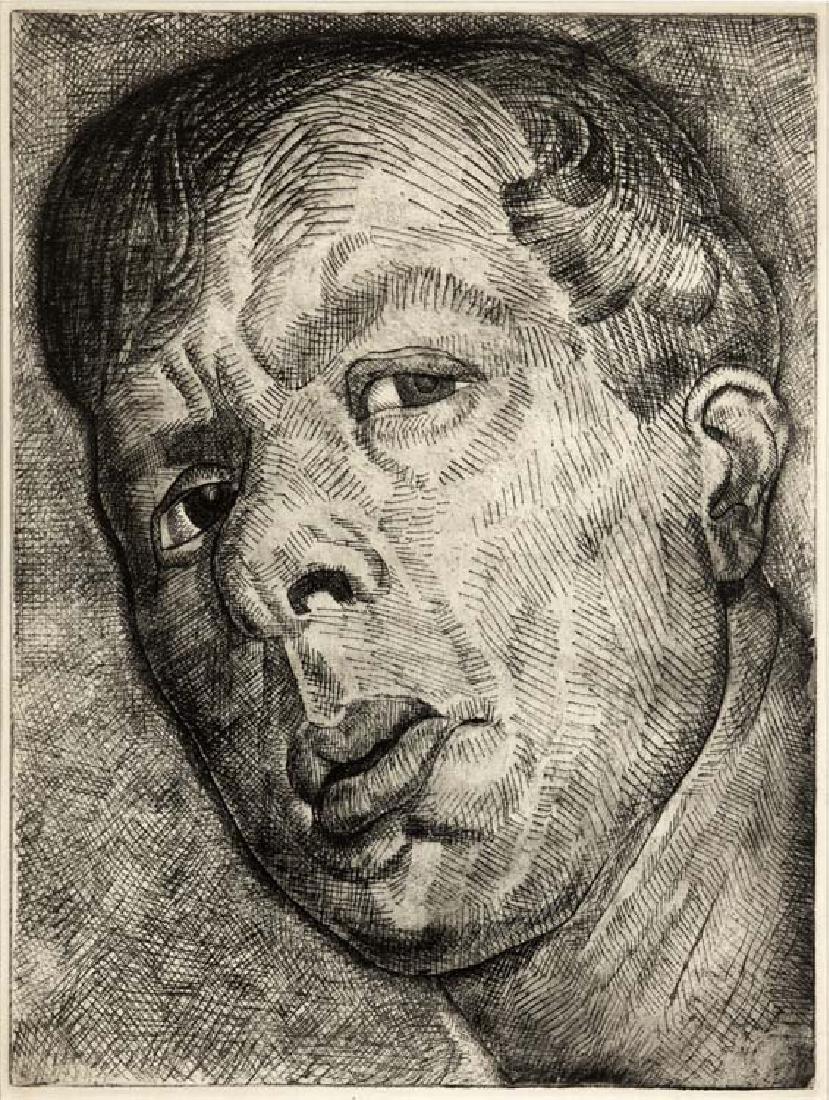 Thomas Stell, Jr. (Am. 1898-1981), Self Portrait,