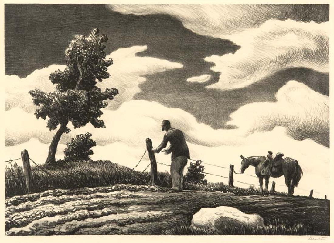 Thomas Hart Benton (Am. 1889-1975), The Fence Mender,