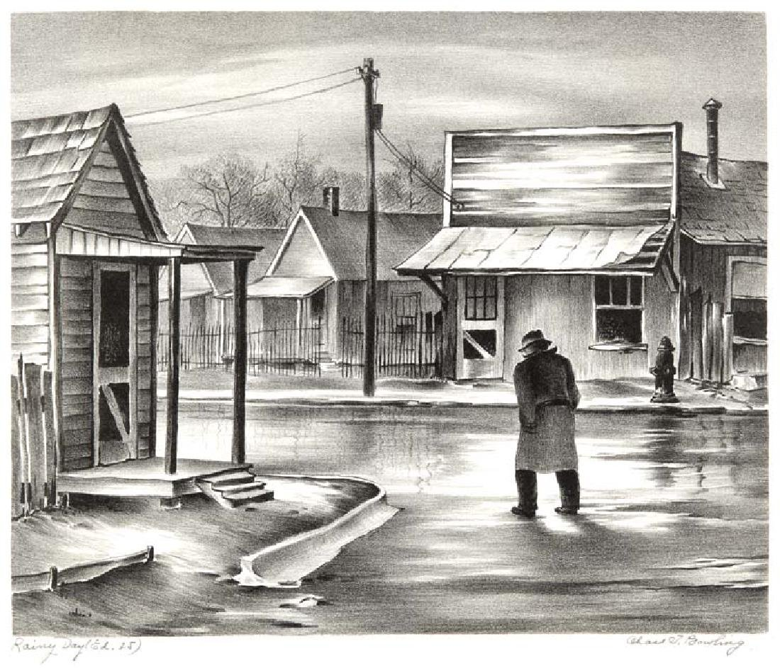 Charles Bowling (Am. 1891-1985), Rainy Day, 1943, Ed.