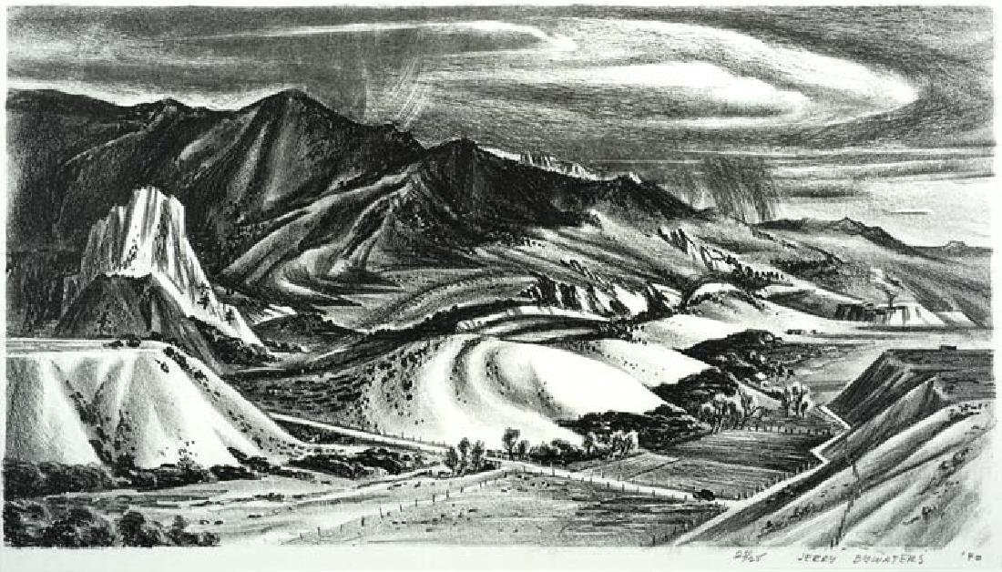 Jerry  Bywaters (Am. 1906-1989), Where the Mountains