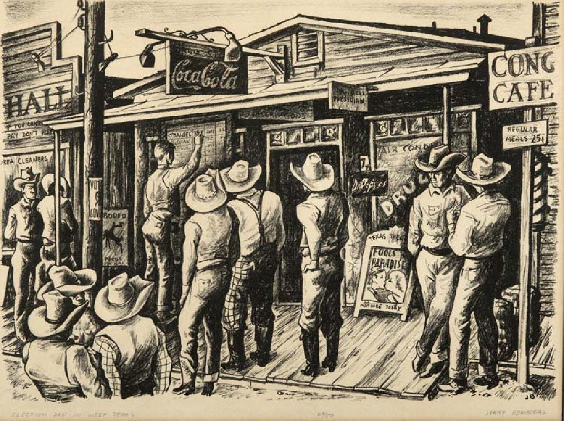 Jerry Bywaters (Am. 1906-1989), Election Day in West