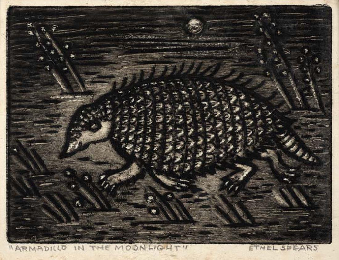 Ethel Spears (Am. 1903-1974), Armadillo in the