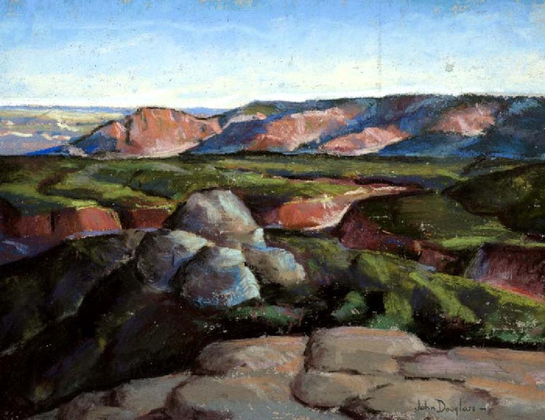 John  Douglas (Am. 1905-1969), Palo Duro Canyon, pastel