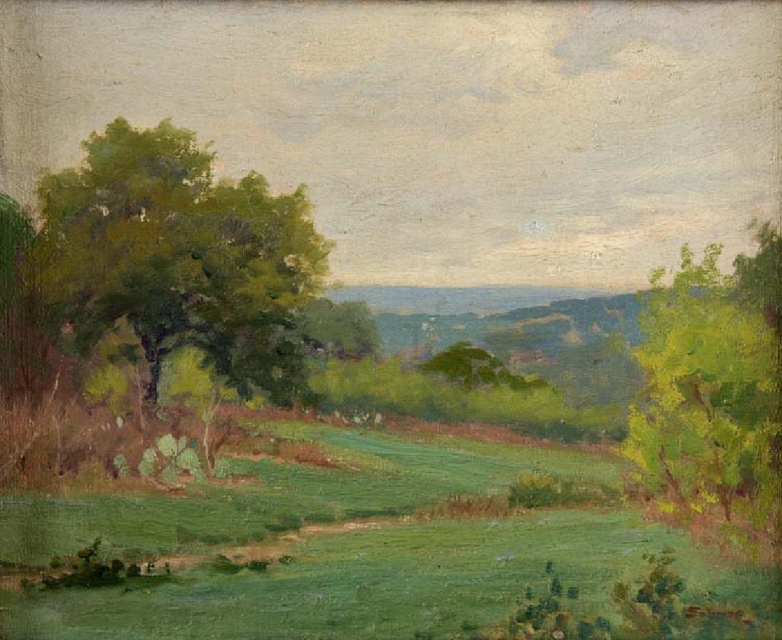 Porfirio  Salinas (Am. 1910-1973), Springtime, oil on
