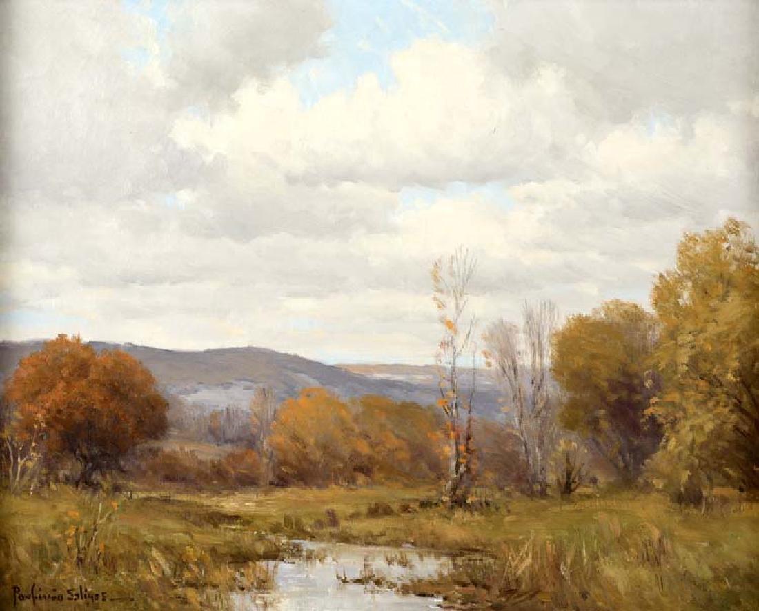 Porfirio Salinas (Am. 1910-1973), Autumn Landscape,