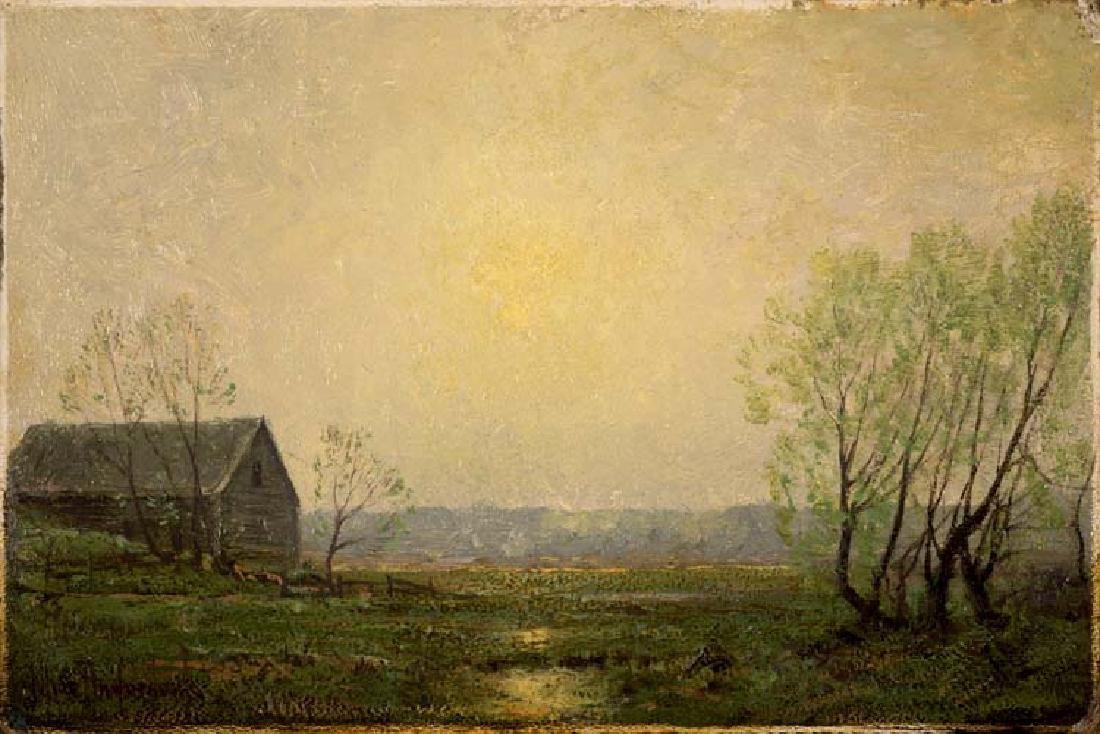 Julian  Onderdonk (Am. 1882-1922), Country Morning, oil