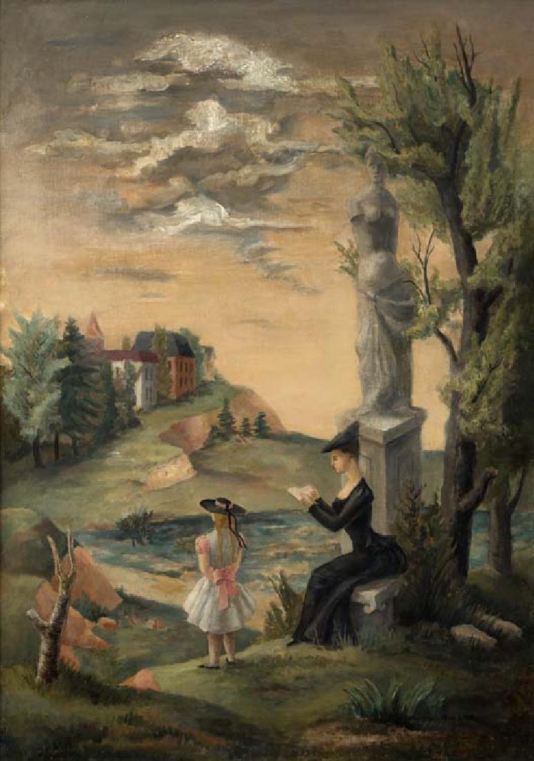 Bror Utter (Am. 1913-1993), Untitled, c. 1940, oil on