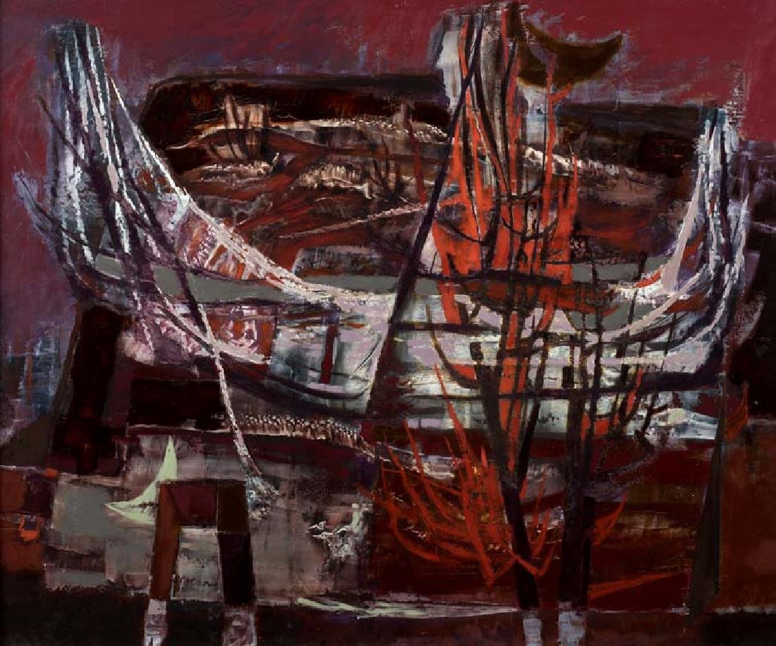 William Lester (Am. 1910-1991), Landscape, oil on
