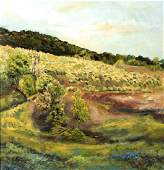 Rolla S. Taylor (Am. 1871-1970), Summer Fields, oil on