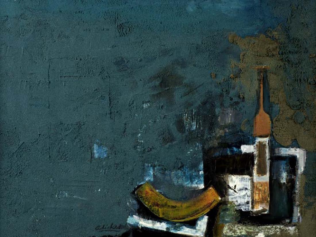 David Adickes (Am. 1927-), Still Life, oil on board